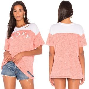 NWT Wildfox Foxy Distressed Short Sleeve Tee